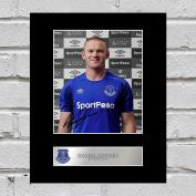 Wayne Rooney Signed Mounted Photo Display Everton FC
