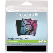 Crescent Artist Trading Cards 10cm x 10cm 4/Pkg-Chunky Book - Black