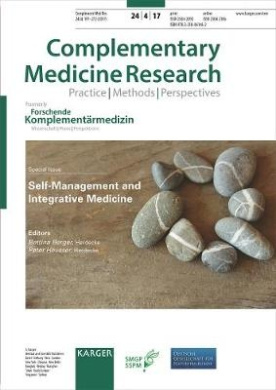 Self-Management and Integrative Medicine: Special Topic Issue: Complementary Medicine Research 2017, Vol. 24, No. 4