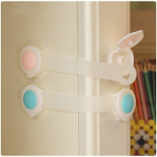 Kxtffeect 10 Pack Colourful Baby/Child Safety Cabinet Locks, Easy to Instal (No Drilling), Childproof Latches For Cabinet Door, Drawer, Oven, Toilet Seat, Refrigerator