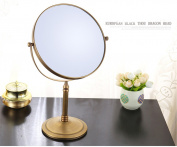 3X Magnifying Magnification Makeup Cosmetic Mirror 20cm Double-Sided Full Copper Desktop Tabletop,Bronze For Bathroom Vanity Shaving Dressing Room Bedroom Thanksgiving Christmas Birthday Wedding Gift