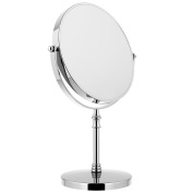 Makeup Cosmetic Mirror 3X Magnifying Magnification 360 °Rotating Double-Sided Desktop Tabletop Stainless Steel,20cm For Bathroom Vanity Shaving Dressing Room Bedroom Thanksgiving Christmas Birthday Wedding Gift