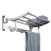 Candora® Stainless Steel Wall Mounted Bathroom Towel Rack Brushed Towel Shelf towel holder Hotel Rail Shelf Storage Holder For the Bathroom