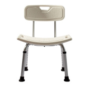 LI JING SHOP- Luxury Height Adjustable Aluminium Bath / Shower Chair With Back With Shower Head Stent
