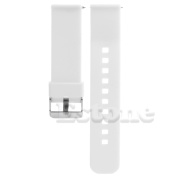 SCASTOE 22mm Release Silicone Watchband Watch Band Strap for Smart Watch Motorola MOTO 360 -White