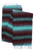 El Paso Designs Genuine Mexican Falsa Blanket - Yoga Studio Blanket, Colourful, Soft Woven Serape Imported from Mexico