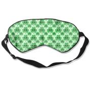 Sleeping Eye Mask Happy Shamrock Natural Silk Eye Mask Cover With Adjustable Strap