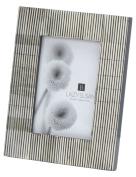 Grey Pin Stripe Bone Frame