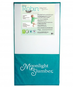 Moonlight Slumber Mattress Tiny Robin Dual Sided Crib and Toddler Mattress with waterproof, antimicrobial fabric cover, stain and odour resistant