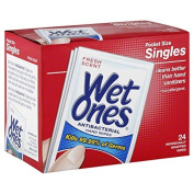 Wet Ones Singles 1-Pack of 24-Count wipes