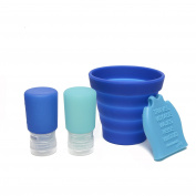 CB GO Tubby To Go Travel Bath Set by Chewbeads, Turquoise/Blue