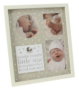 Pretty Neutral Collage Star Themed Newborn Baby Photo Frame by Haysom Interiors