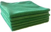South Bay 12 Piece Pack Microfiber Cleaning Cloth, Bar Mop, Green