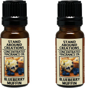 Set of 2 - Concentrated Fragrance Oil - Scent - Blueberry Muffins