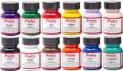 Angelus Brand Acrylic Paint Starter Kit 12 30ml Leather Vinyl Sneaker