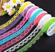 7pcs Roll Decorative Lace Sticky Adhesive Washi Tape for DIY Craft