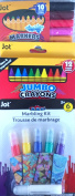 JOT BACK TO SCHOOL BUNDLE 12COUNT CRAYONS 6COUNTMARBLING KIT JOT 10 COUNT coloured MARKERS