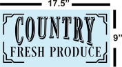 Country Fresh Produce Stencil for Painting Wood Signs - Reusable