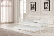 Artisan Beds Ivory Painted Metal Day Bed with Trundle