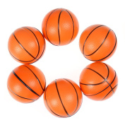 6 Pcs Mini Foam Basketball Ball Game Party Favours Stress Releasing Squeeze Balls