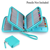 BTSKY New Deluxe PU Leather Pencil Case For Coloured Pencils - 120 Slot Pencil Holder