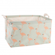 Flamingo Storage Bin Toy Basket Collapsible Box Chest Organiser Water-resistant Organiser for Bedroom, Closet, Kid's Toys, & Laundry, Gift Baskets