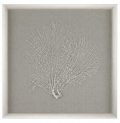 Silver / White / Coral Sea Fan Wall Decor