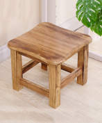 WUFENG Portable Paulownia wood square Stool small bench,2 colours optional,29.5 * 29.5 * 25.5cm