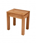 WUFENG Multifunction Wood Colour Dressing Table Stool Ash Wood Chair Makeup Piano Seat,42 * 30 * 45cm