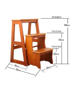 WUFENG Multi-function ladder chairs Nordic Creative four-layers Foldable Multilayer Solid Wood Chair Ladders staircase stool step stool