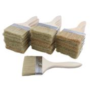 RDEXP Mixed Silk Dark Yellow Bristles 20cm x 8.9cm Thin Chip Brushes Wood Handle Paint Brush Touchups Set of 20