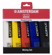Amsterdam Acrylic Standard Series Paint Set 5x120ml Mixing