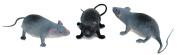 Veil Entertainment Lifelike Halloween Mice 13cm Decoration Prop, Assorted, 3 CT