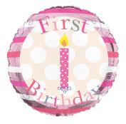 Creative Collection Balloon Foil - Happy 1st Birthday Girl