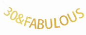 30 & Fabulous Gold Banner 30th Birthday Party Decorations Sign