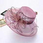 Fascinators Kentucky Derby Church net yarn Cap female summer organze Wedding Floral Party Hat