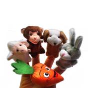 TRENDINAO 5pcs Animal Finger Puppet Plush Child Baby Early Education Toys Gift