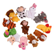 TRENDINAO 12Pcs Chinese Zodiac Animal Soft Finger Puppet Toys Plush Toys for Kids Toddlers Educational