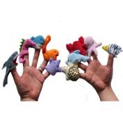 TRENDINAO 10pcs Ocean Animal Finger Puppet, Child Kids Funny Education Toys Gift