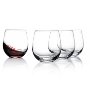 Sweese 6101 Stemless Wine Glasses, 440ml, Great for White or Red Wine - Set of 4