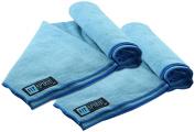 Fit Spirit Set of 2 Super Absorbent Microfiber Non Slip Skidless Sport Towels - Choose Your Colour and Size