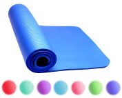 Thick Exercise Yoga Floor Mat Nbr 60cm X 180cm Great for Camping Cardio Workouts Pilates Gymnastics With Carrying Strap Included