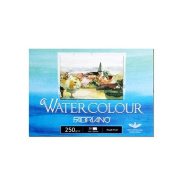 Fabriano Watercolour Paper Pads, Postcards Pad Rough Finish, 250gsm 20 Sheets