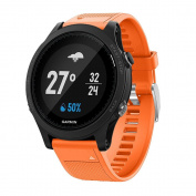 "Band for Garmin Fenix 5 / Forerunner 935, Soft Silicone Replacement Watch Band Strap for Garmin Fenix 5 / Garmin Forerunner 935 Smart Watch, Fit 5.31""-8.85"" (135mm-225mm) Wrist"