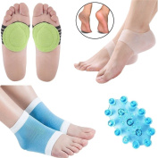 Plantar Fasciitis Compression Ankle Socks Silicone Heel Sleeve Cushioned Arch Support Foot Massager