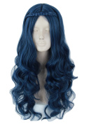 Topcosplay Womens Wig Wave Long with Braid Halloween Costumes Evie Wig Cosplay Adult