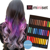 Temporary Hair Dye Colour Non-Toxic Soft Pastels Chalk Colourful Hair Chalk Pens. Temporary Colour for Girls for All Ages. Makes a Great Birthday Gift