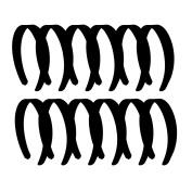 Black 2.5cm Satin Hard Headband