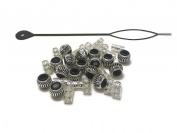 New Dreadlock Braids Hair Beads Cuffs Filigree Tubes