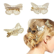 Women Retro Butterfly Style Hair Clips Beauty Tools(F) …